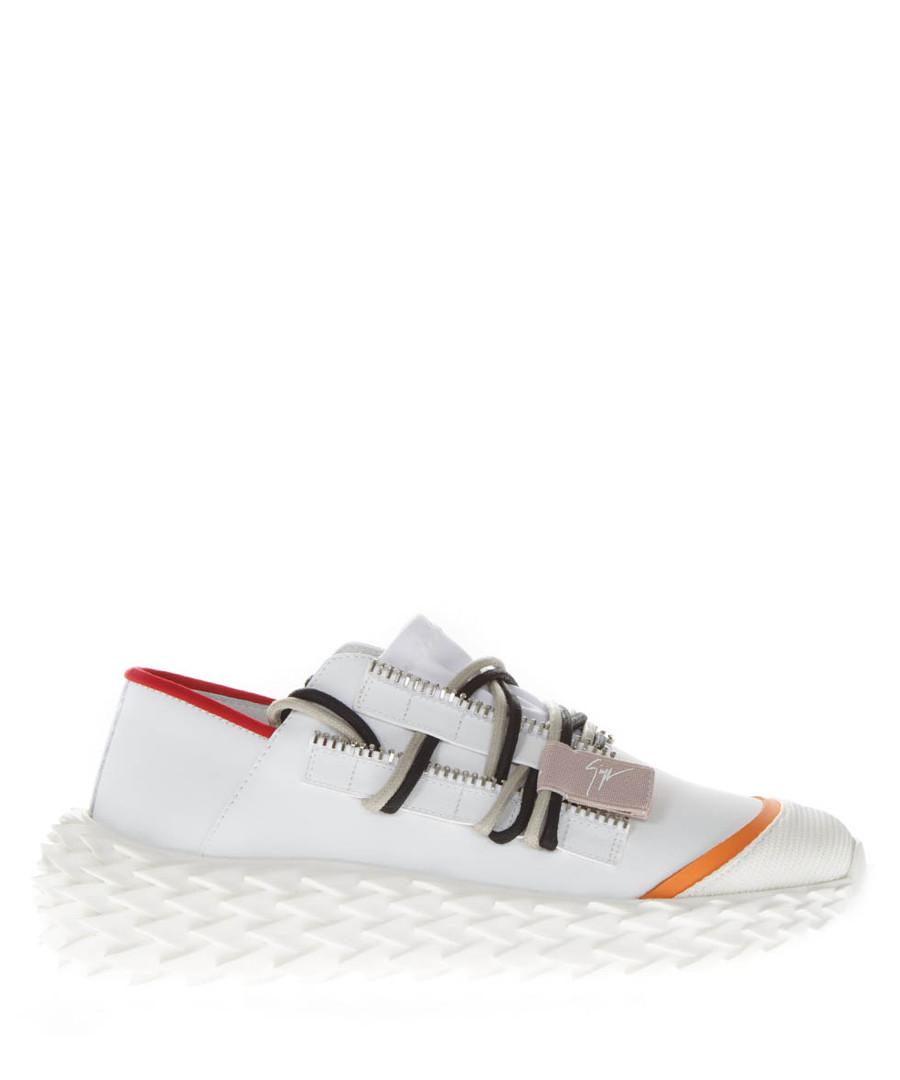 Urchin rubberized white leather sneakers Sale - giuseppe zanotti