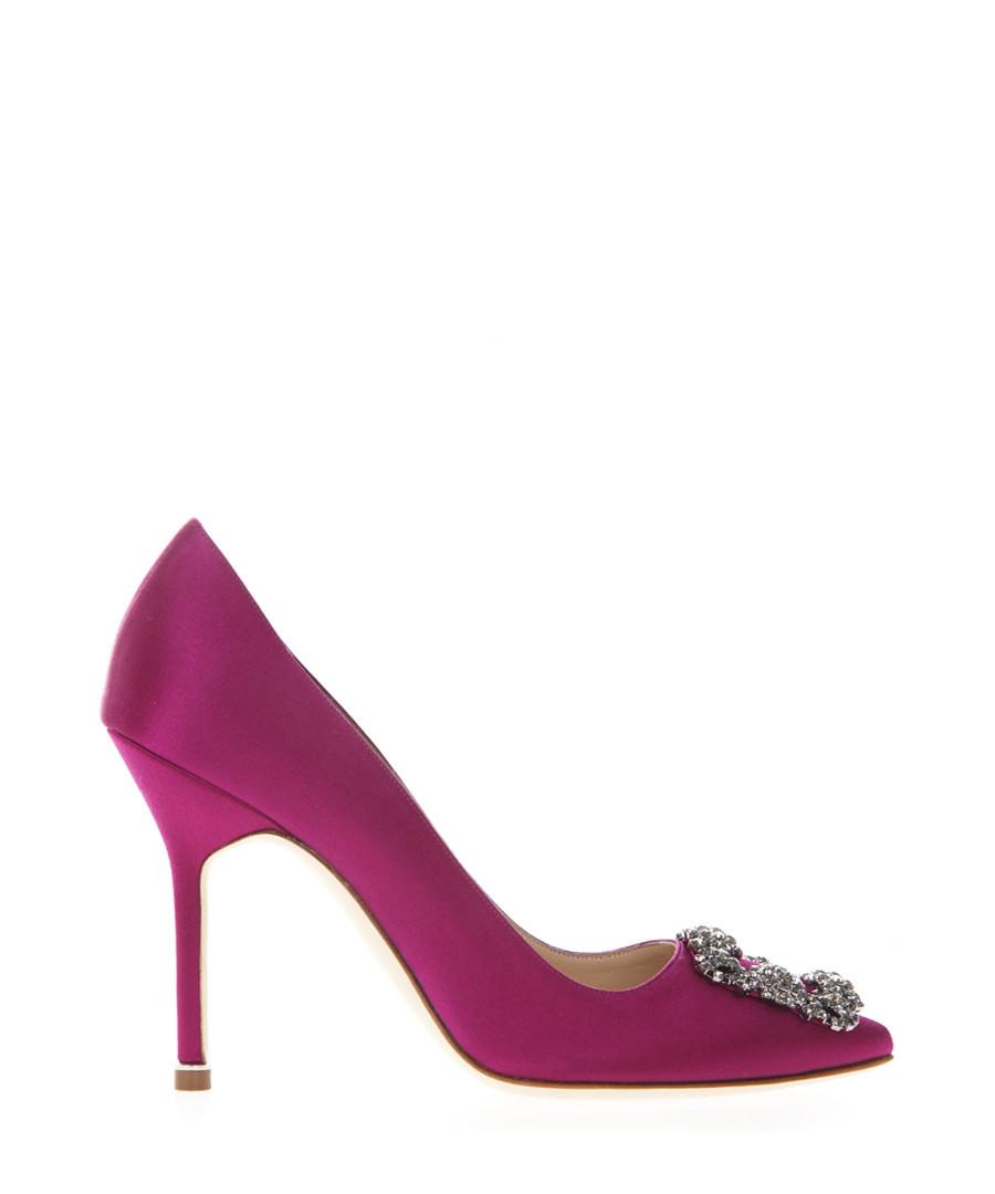 Hangisi magenta satin court heels Sale - manolo blahnik