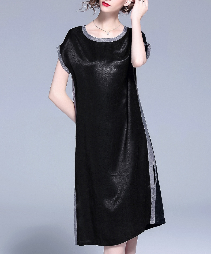 Black sheen straight dress Sale - Kaimilan