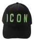 Icon black & green pure cotton cap Sale - dsquared2 Sale