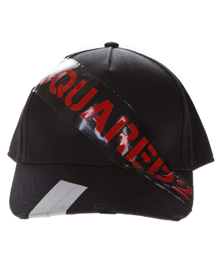 DSQ Tape black pure cotton cap Sale - dsquared2