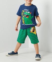 Monster Attack shorts & shirt set