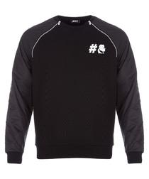 black & midnight pure cotton jumper