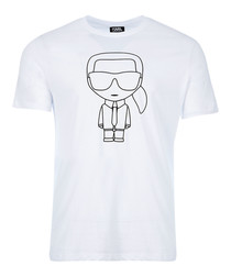 karl white pure cotton T-shirt