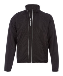 black full-zip lightweight jacket