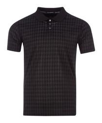 black checker pure cotton polo