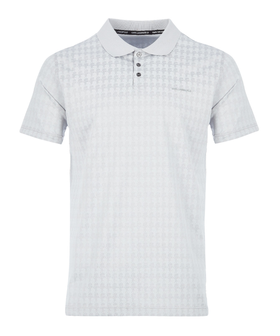 ash checker pure cotton polo Sale - KARL LAGERFELD