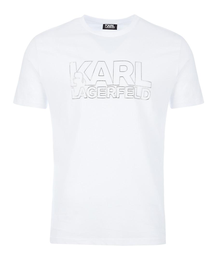 white pure cotton logo T-shirt Sale - KARL LAGERFELD
