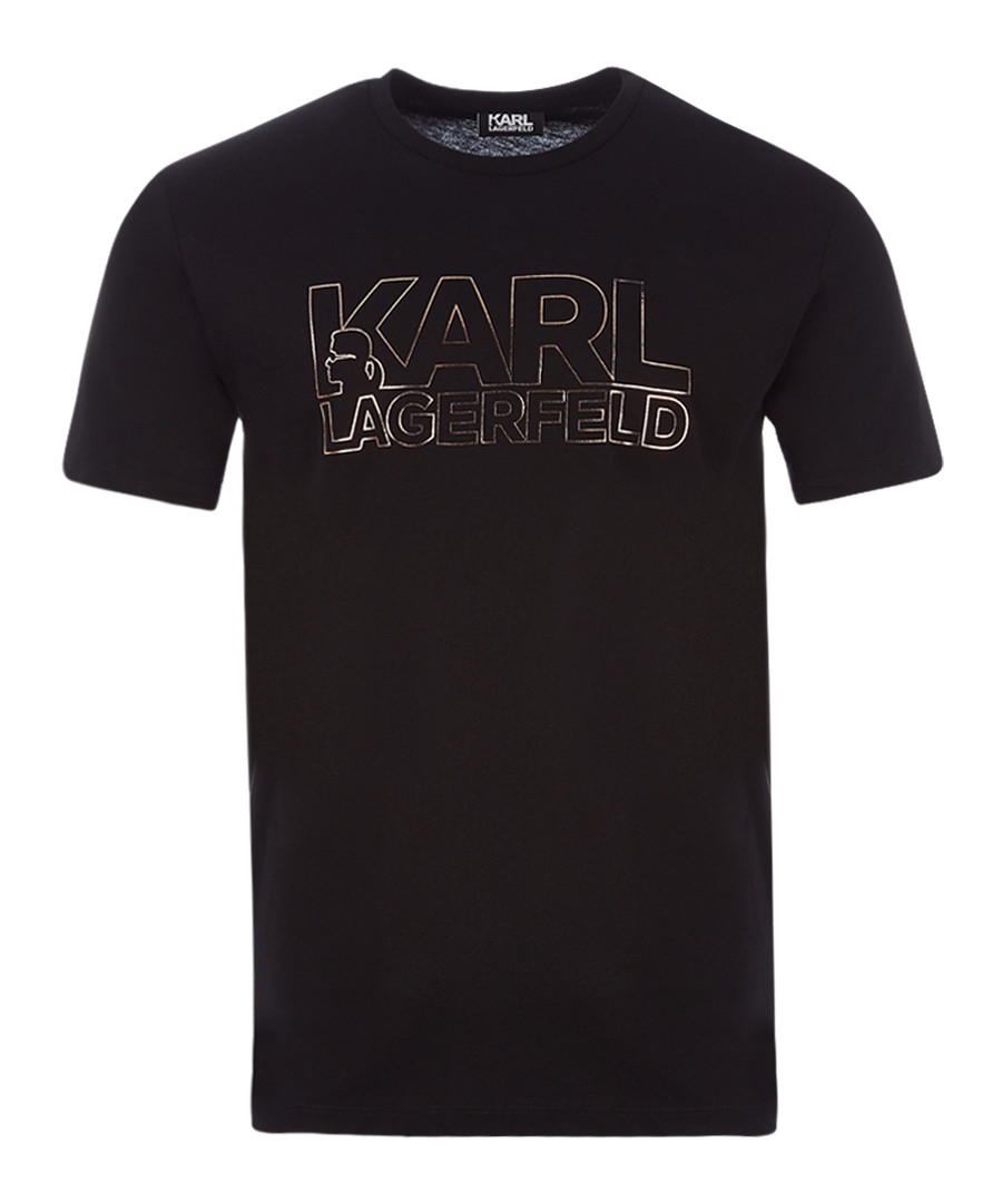 navy pure cotton logo T-shirt Sale - KARL LAGERFELD
