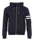 navy pure cotton full-zip hoodie Sale - KARL LAGERFELD Sale