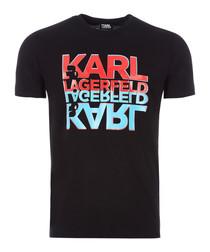black mirror logo pure cotton T-shirt