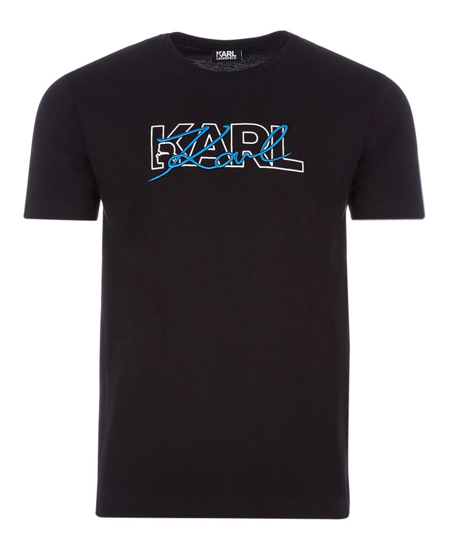 karl black pure cotton T-shirt Sale - KARL LAGERFELD