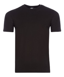 black pure cotton T-shirt