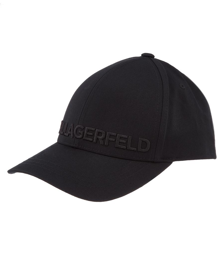 black pure cotton logo cap Sale - KARL LAGERFELD