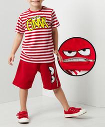 Grrr cotton blend shorts & top set