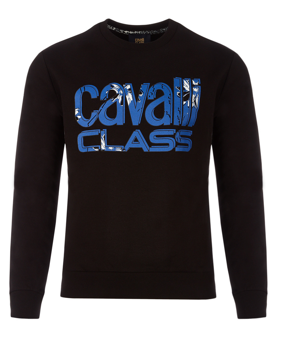 Navy pure cotton strip logo jumper Sale - cavalli class
