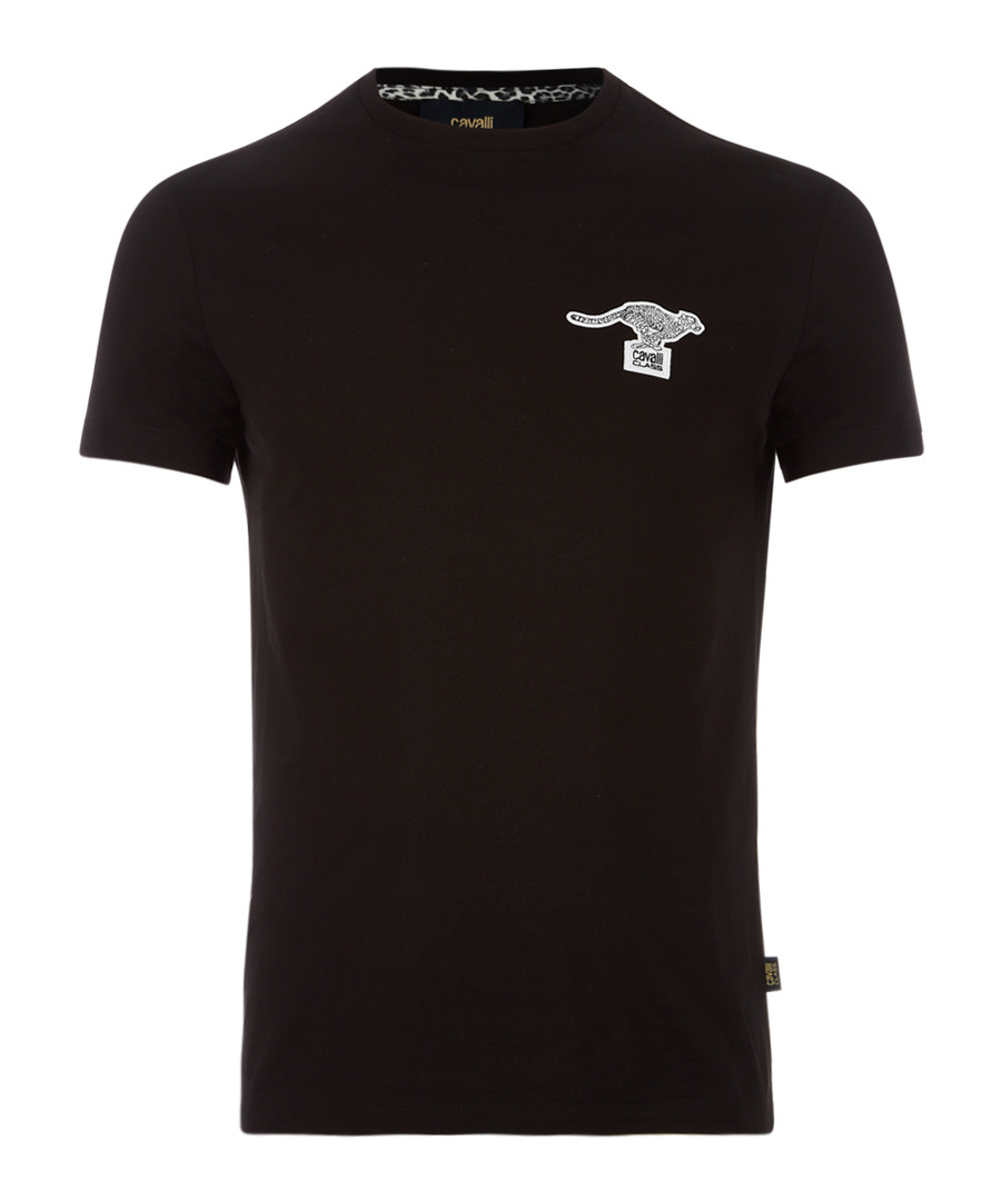 black cotton stretch kanga T-shirt Sale - Cavalli Class