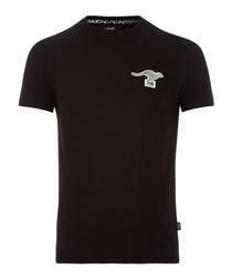 black cotton stretch kanga T-shirt