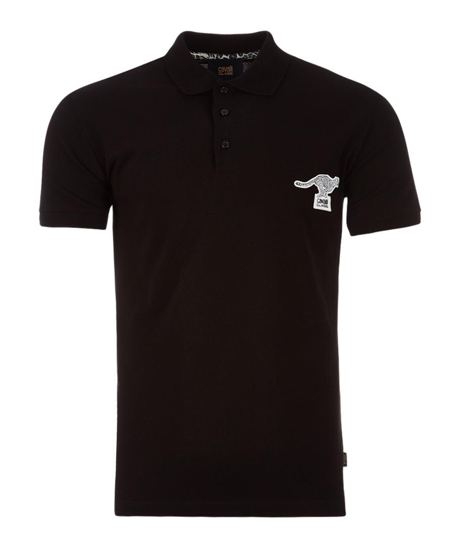 black cotton kanga polo  Sale - Cavalli Class