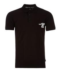 black cotton kanga polo