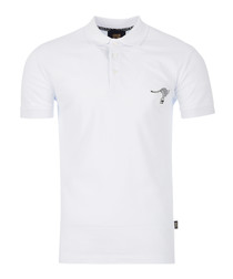 white cotton kanga polo