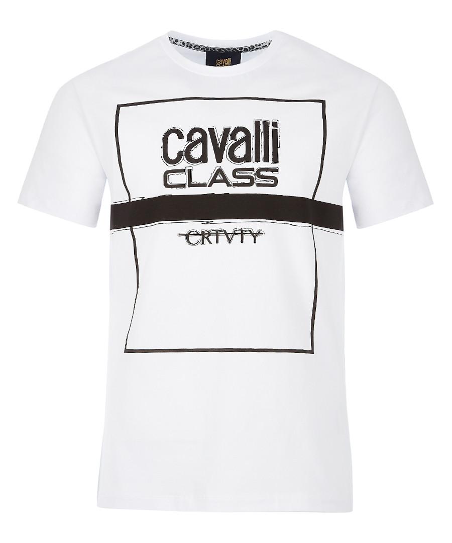 white pure cotton square T-shirt Sale - Cavalli Class