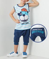 Sailor Dog shorts & shirt set
