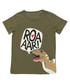 T-Rex olive cotton blend T-shirt Sale - denokids Sale