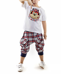 Checked Hiphop shorts & shirt set