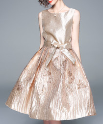 Champagne sheen sleeveless dress