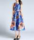 Blue & floral A-line dress Sale - Kaimilan Sale