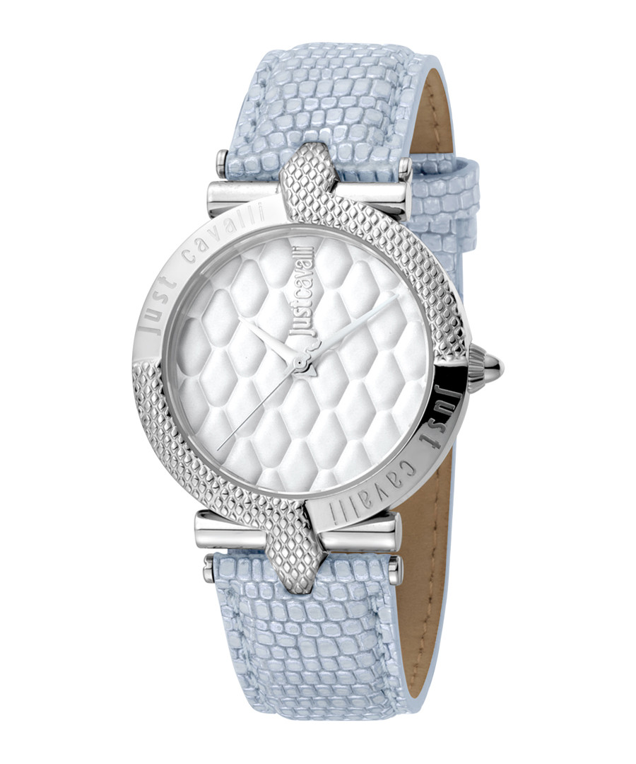 Steel & pale blue leather watch Sale - JUST CAVALLI