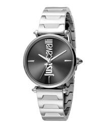 Steel & grey steel watch