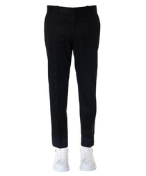 Black & blue pure cotton trousers