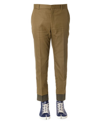 Caramel pure cotton trousers