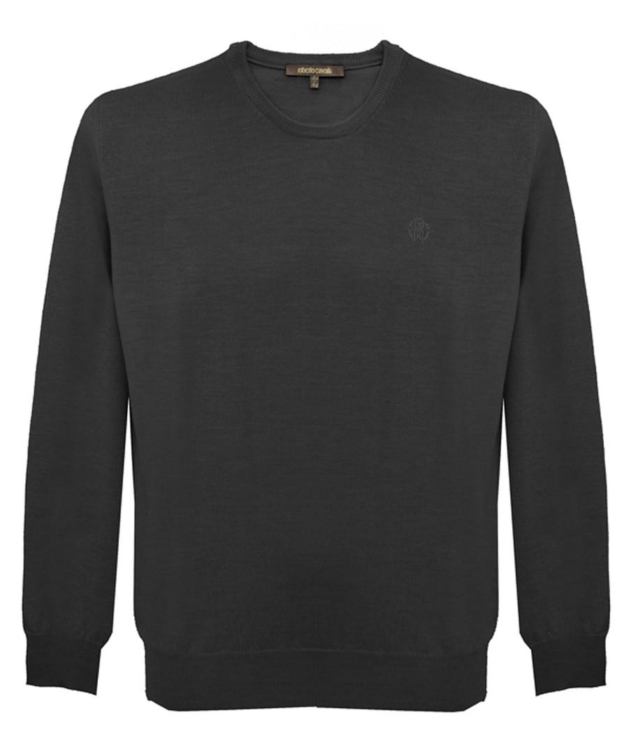 Black pure cotton sweatshirt Sale - roberto cavalli