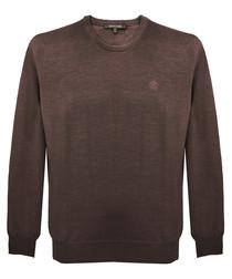Chocolate pure wool sweatshirt