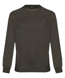 Brown wool blend sweatshirt