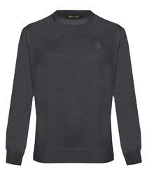 Anthracite wool blend sweatshirt