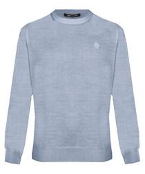 Grey wool blend sweatshirt