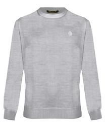 Light grey wool blend sweatshirt
