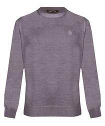 Tortora wool blend sweatshirt