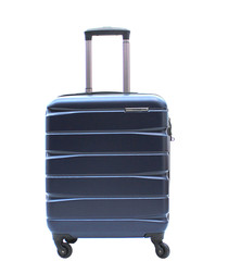 Navy spinner suitcase