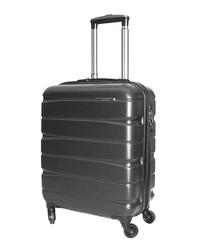 Black spinner suitcase