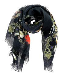 Artist Studio black silk blend scarf