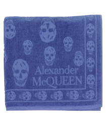 Blue pure cotton Towel