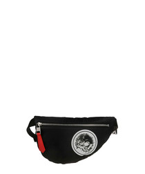 black nylon waist bag