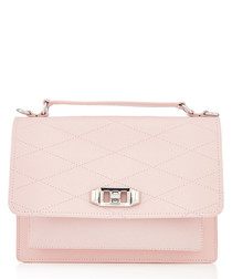 Je Taime Medium peony leather crossbody