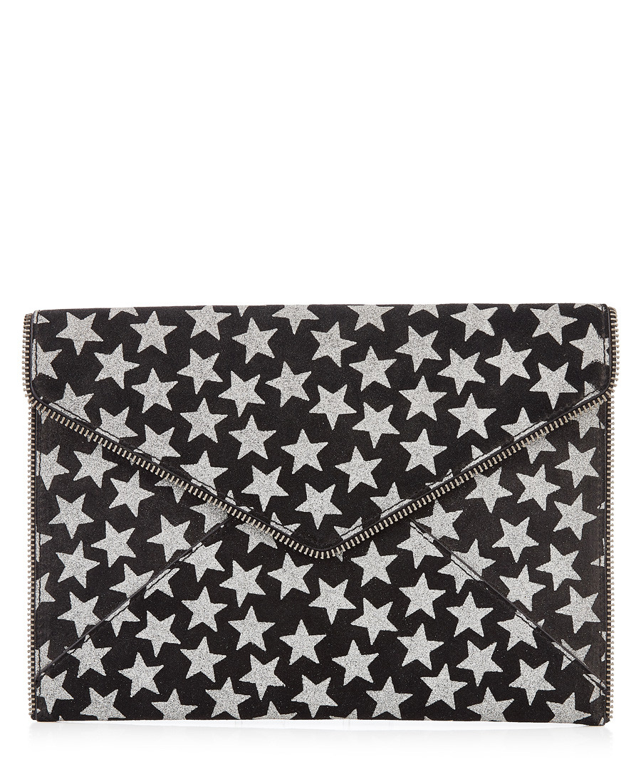 Leo black leather star envelope clutch Sale - Rebecca Minkoff