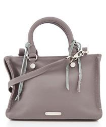 Micro Regan taupe leather satchel